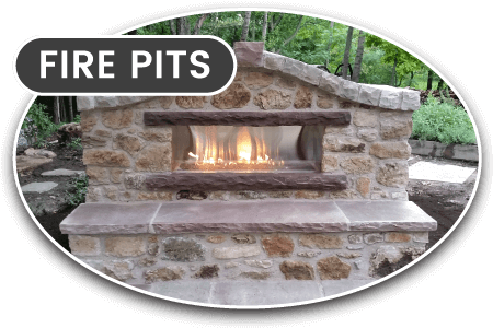 stone fire pits and outdoor ovens