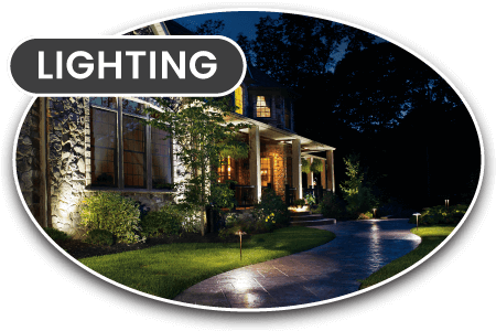 landscape lighting and accents
